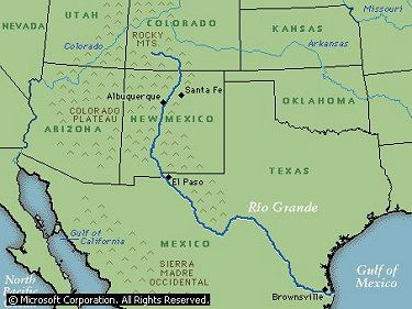 Map Of Texas New Mexico And Colorado.Rio Grande River Google Search Education Facts About New