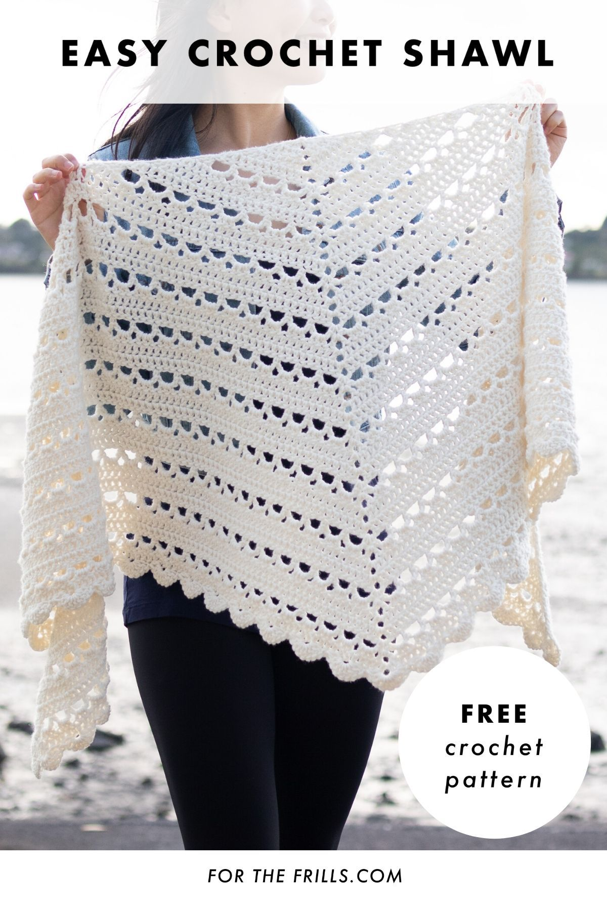 Spring Crochet Shawl for beginners – free pattern + video tutorial