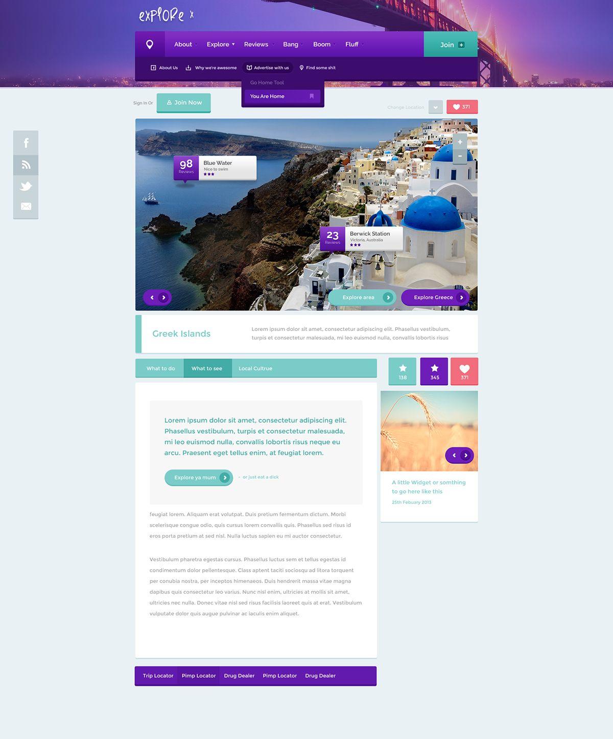 Web Template Design On Behance Web Template Design Psd Template Free Design