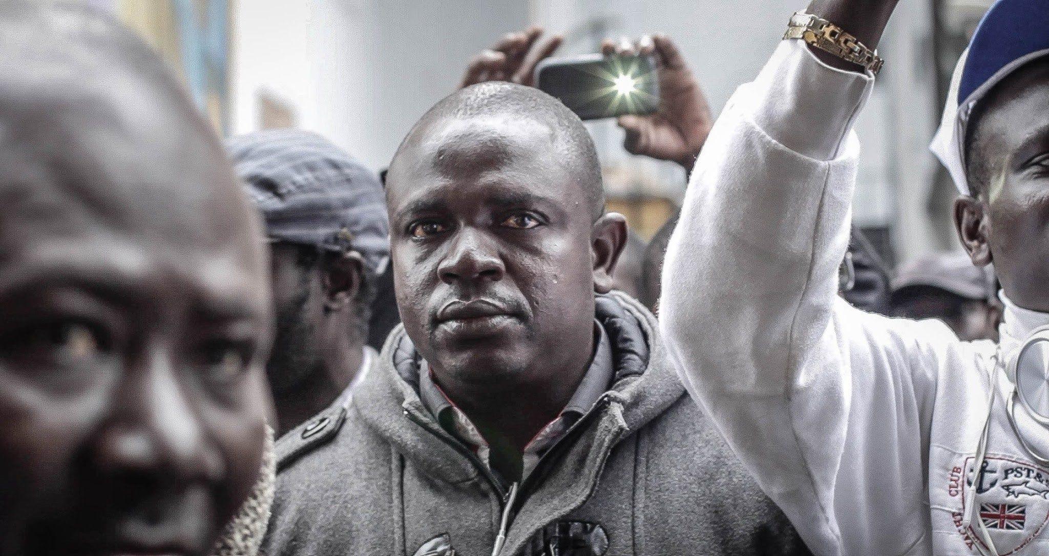 Marcha de vendedores ambulantes africanos