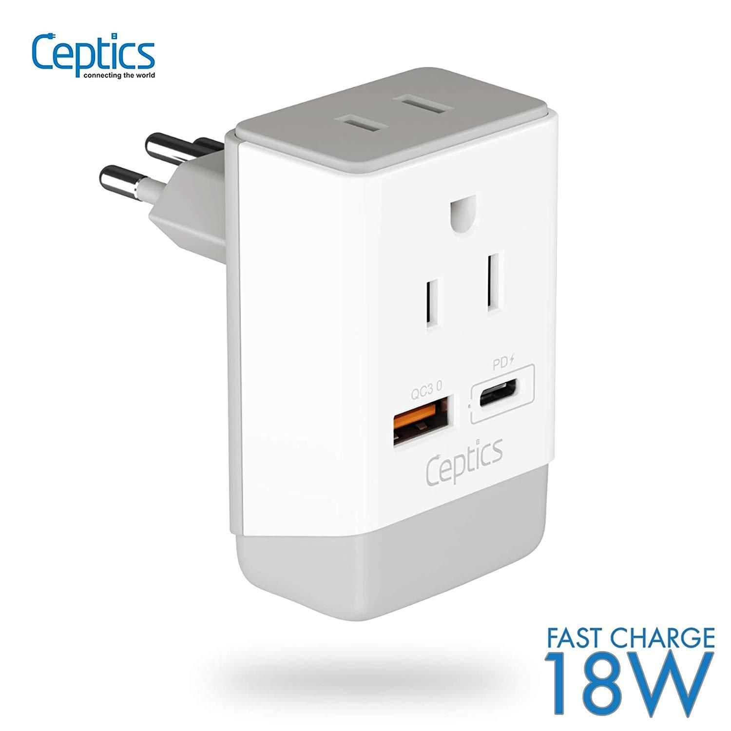 Brazil Travel Adapter Type N Usb A Usb C Ports 2 Usa Outlet Ap 11c In 2020 Travel Adapter International Plug Adapter International Travel Adapter