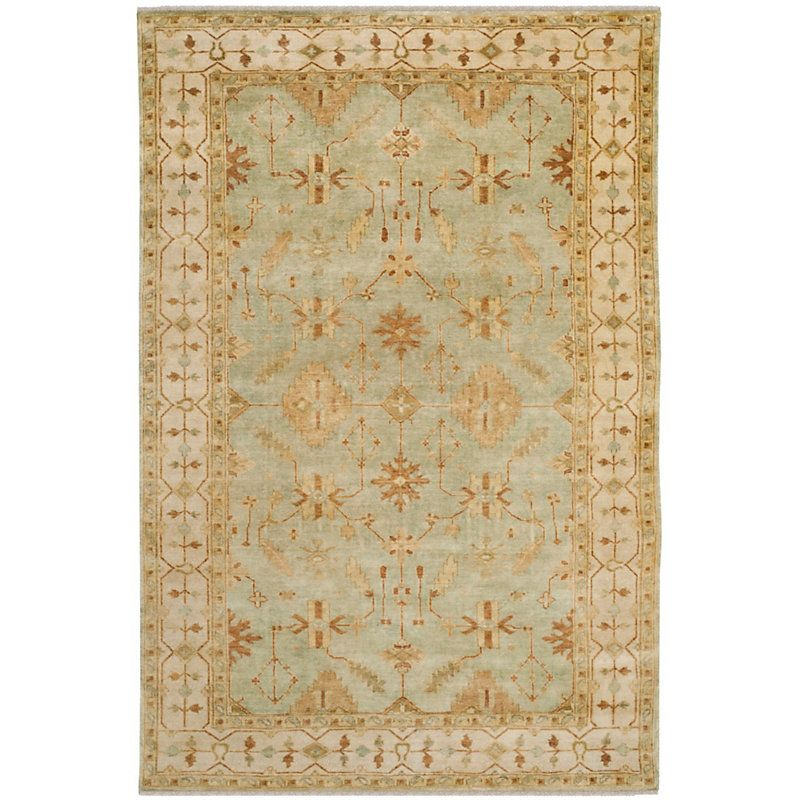 Kipling Hand Knotted Rug Mint Green