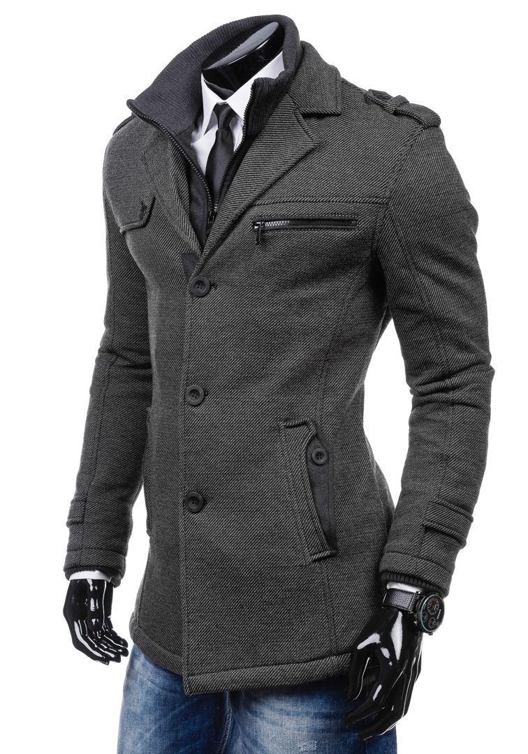 JUST BOY 8312 Cappotto uomo Giubbotto Invernale Cappotto caldo Felpa 4D 4  Zip