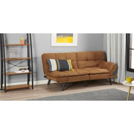 mainstays memory foam futon multiple colors beige products rh in pinterest com