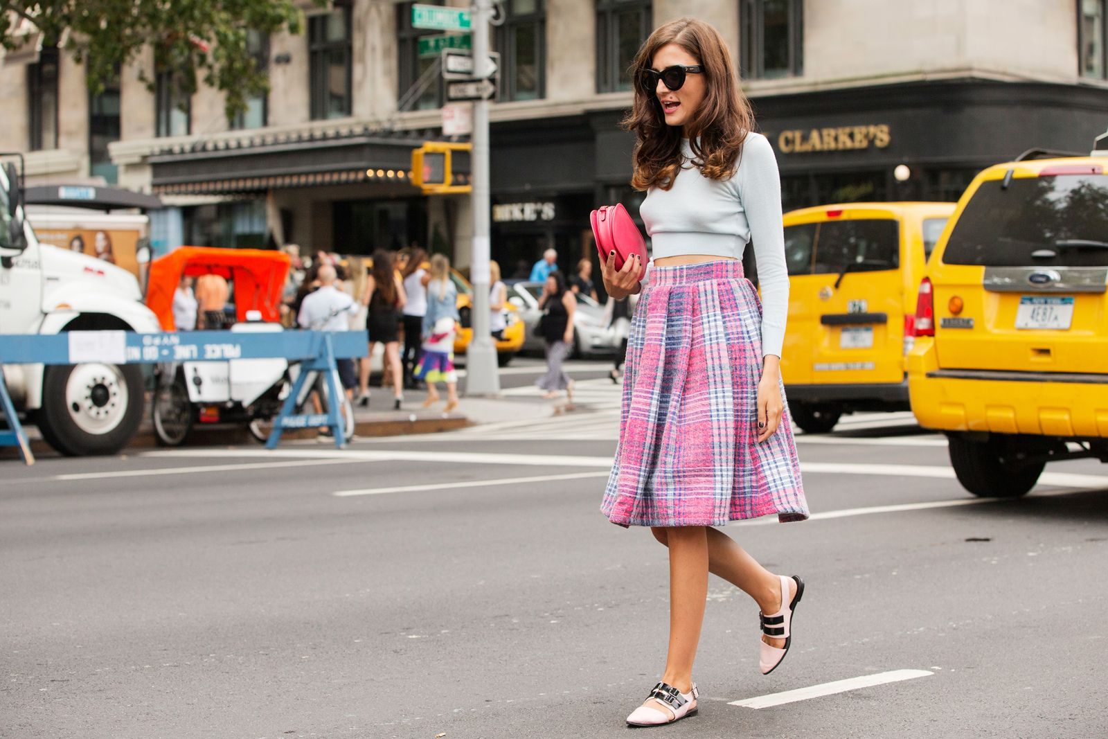 The NYFW Street-Style Looks That Truly Stunned #refinery29  http://www.refinery29.com/2014/09/73987/new-york-fashion-week-2014-street-style-photos#slide10  Eleonora Carisi does pink in three ways.