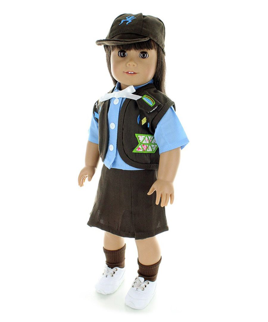 Look at this Pink Butterfly Closet Brown Girl Scout Vest Doll Uniform Set on #zulily today!