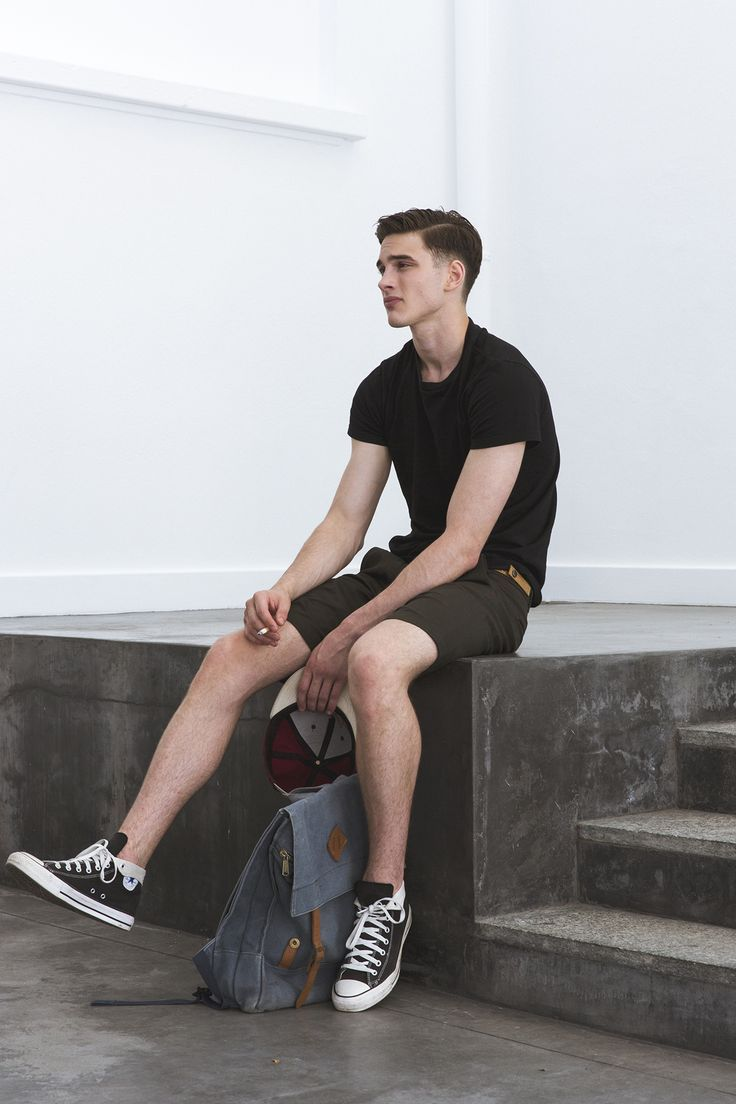 Black t shirt goes with - Converse Shorts Never Goes Out Of Style T Shirt Black Summer Mens Fashion Men