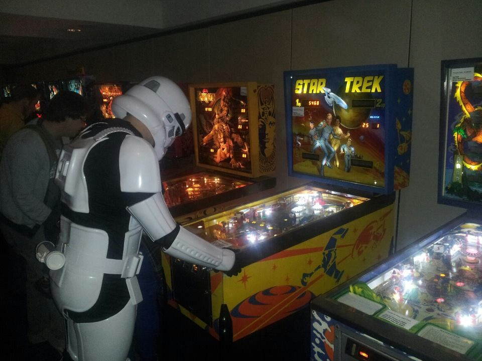 A stormtrooper enjoying a free to play star trek game in