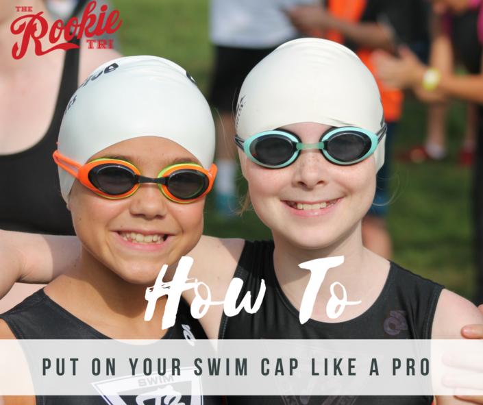 How To Put On Your Swim Cap Swim Caps Triathlon Gear Triathlon Tattoo