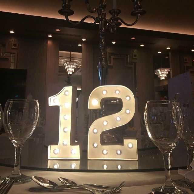We loved these light up table numbers from a recent wedding st the @themaryborough #Alamango #Bridal #Textiles #Wedding #AlamangoBridal #AlamangoTextiles #Malta #LoveMalta #Bridesmaid #WeddingDress