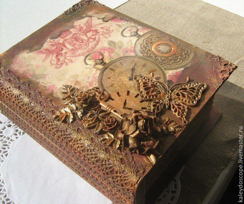 Шкатулка книга для декупажа