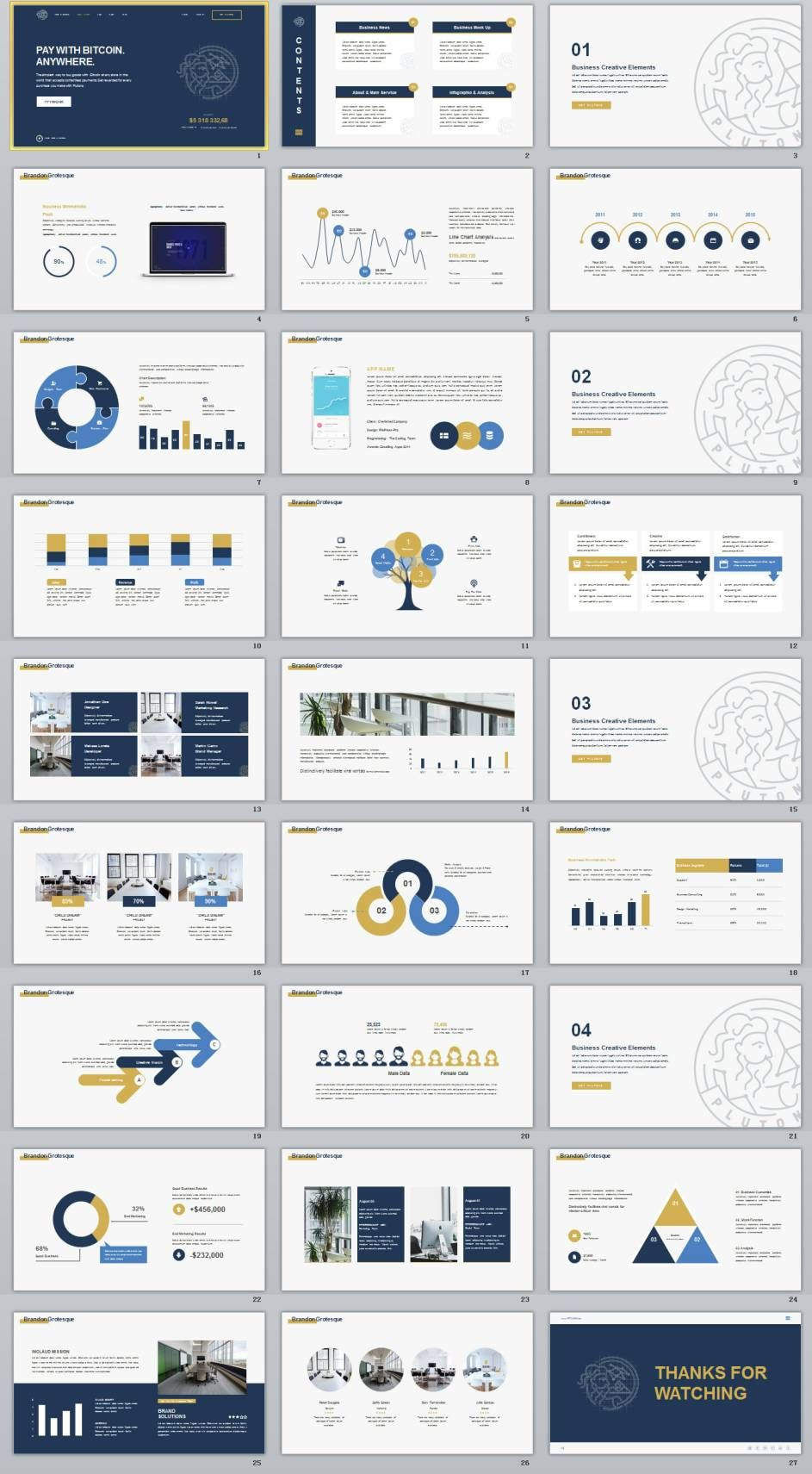 27 company business data charts powerpoint template information