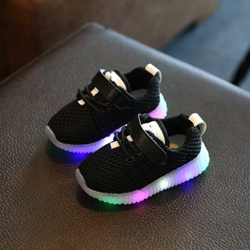 cf7f7661b2 Hot Sale Spring Autumn Baby Girls Boys Led Light Casual Shoes Infant ...