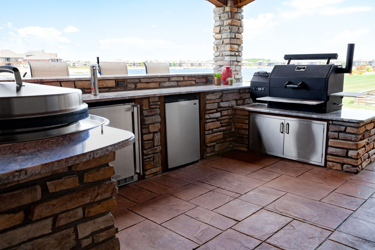 yoder smokers outdoor kitchen outdoor kitchen grill outdoor bbq kitchen outdoor kitchen on outdoor kitchen with smoker id=24077
