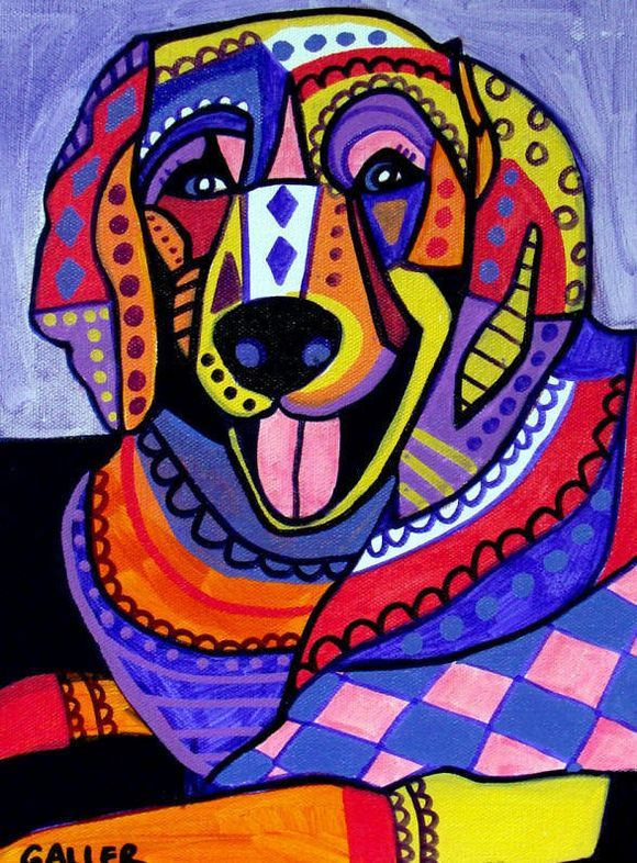 Heather Galler Dog Art: Golden Retriever Dog Art