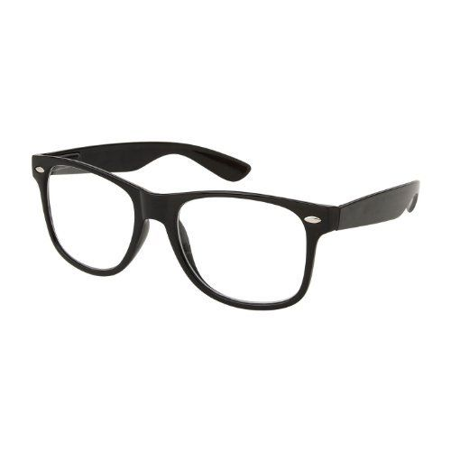 7b0320b8da7 RETRO NERD Geek Oversized BLACK Framed Non Prescription Clear Lens Glasses  by Nerd-001.  2.26. Originally from the 50s