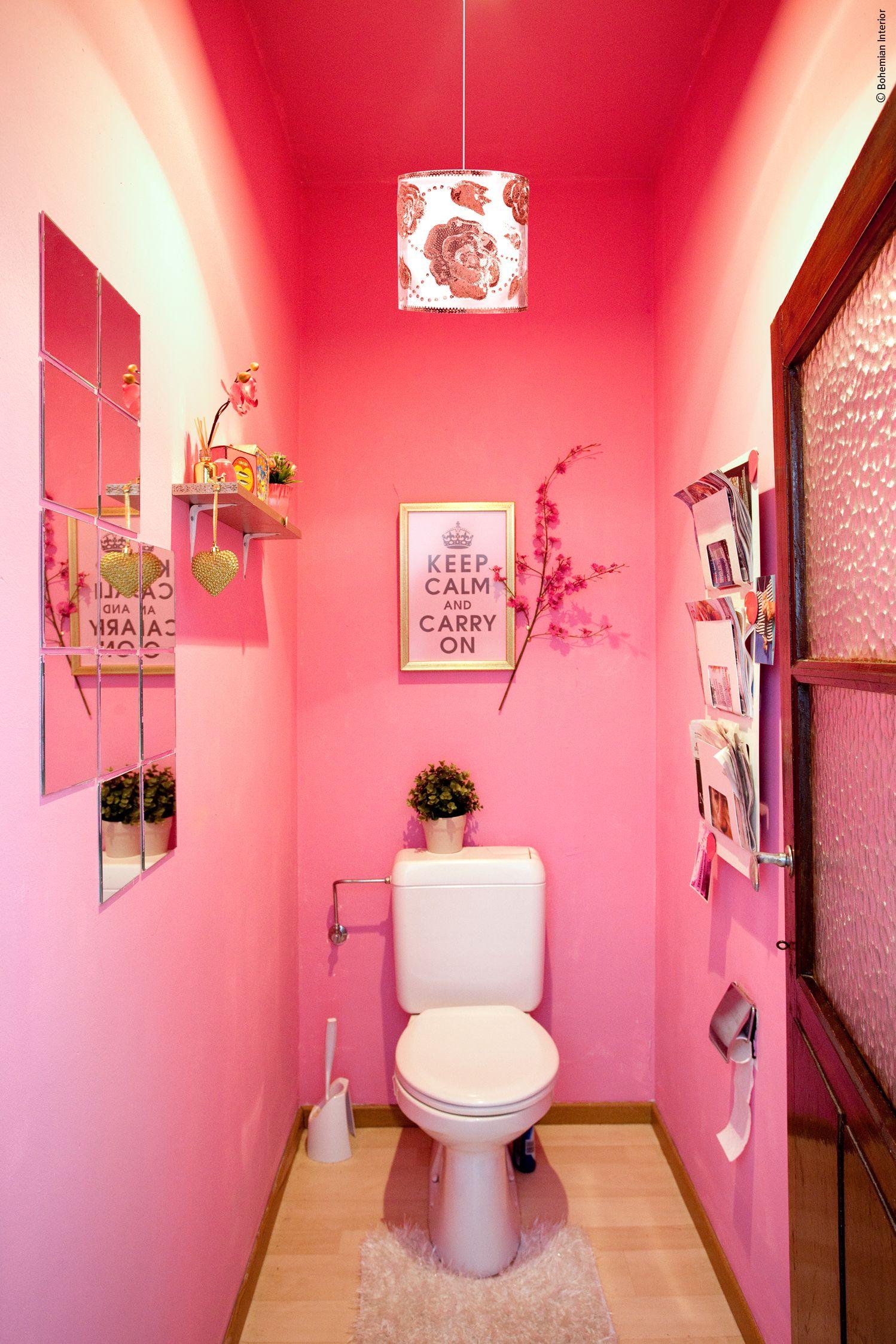 bright pink toilet