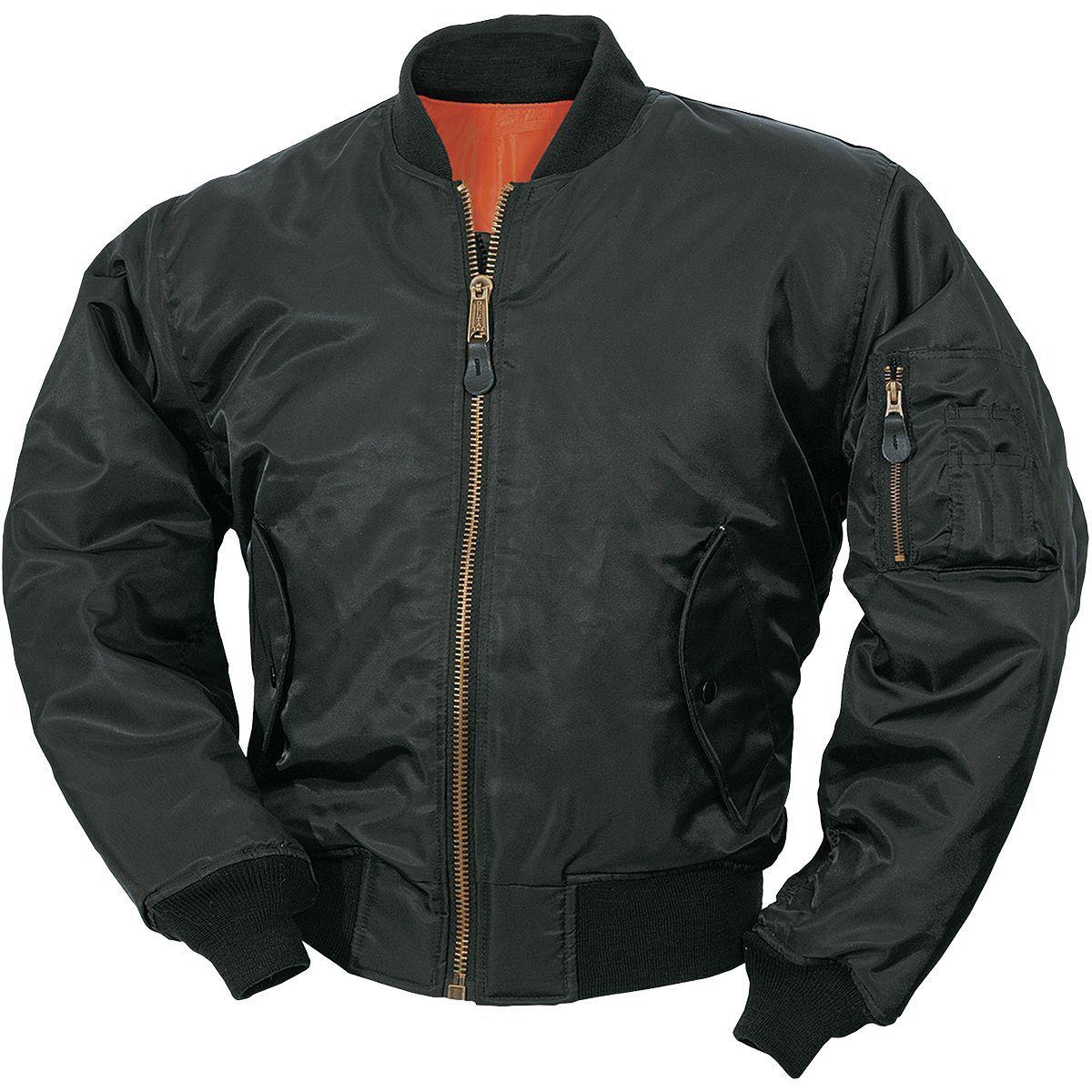 Surplus MA1 Flight Jacket Black Flight bomber jacket