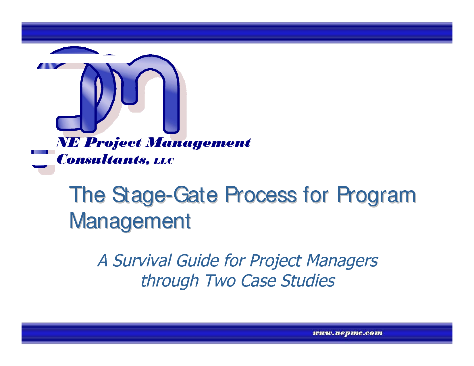 Program Management Process Templates The Stage Gate For A Survival