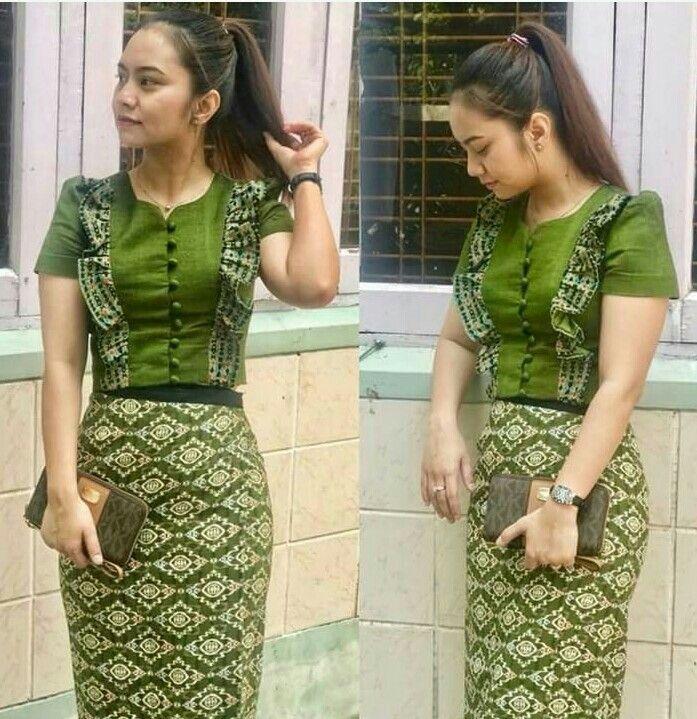 Pin By La Pyae On Myanmar Dress