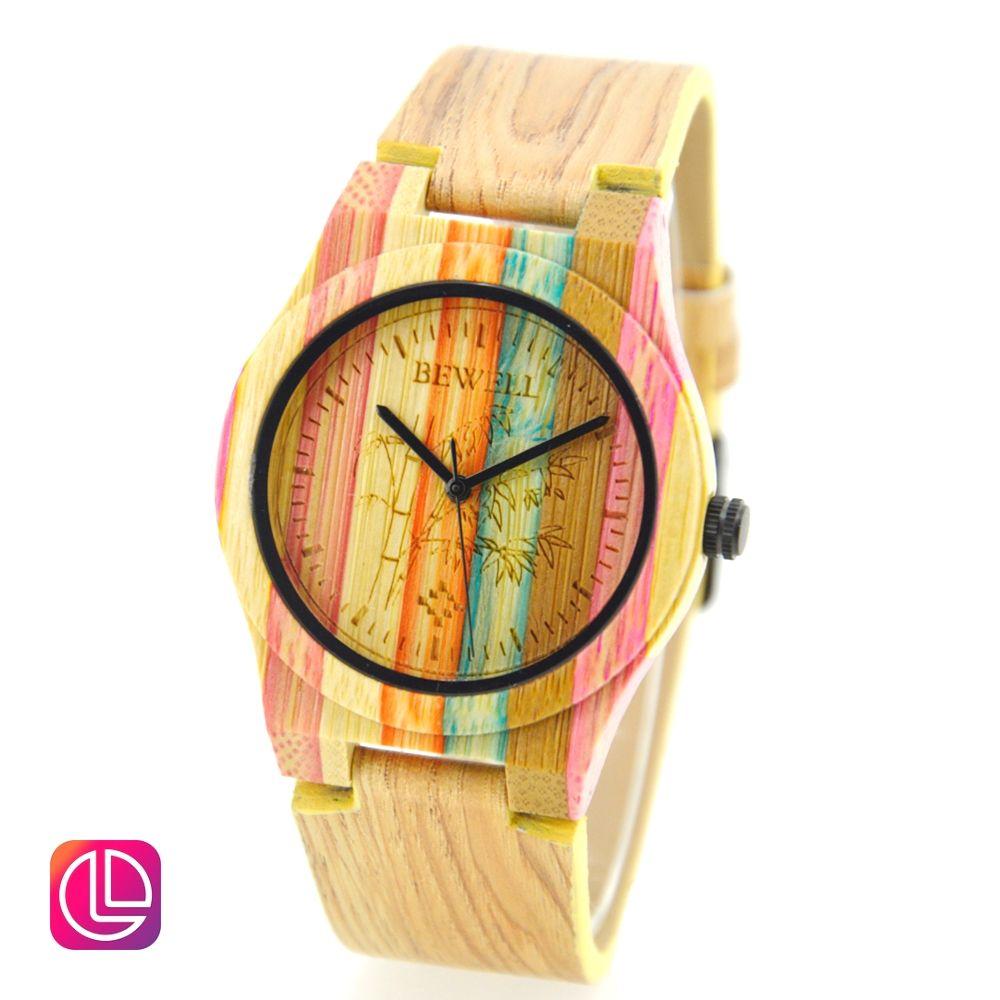 ساعة يد ضد الماء من خشب الخيزران بالوان رائعة السعودية جدة الرياض المدينة الدمام تسوق لوز متجر سوق Fashion Watches Bamboo Watch Wooden Watches Women