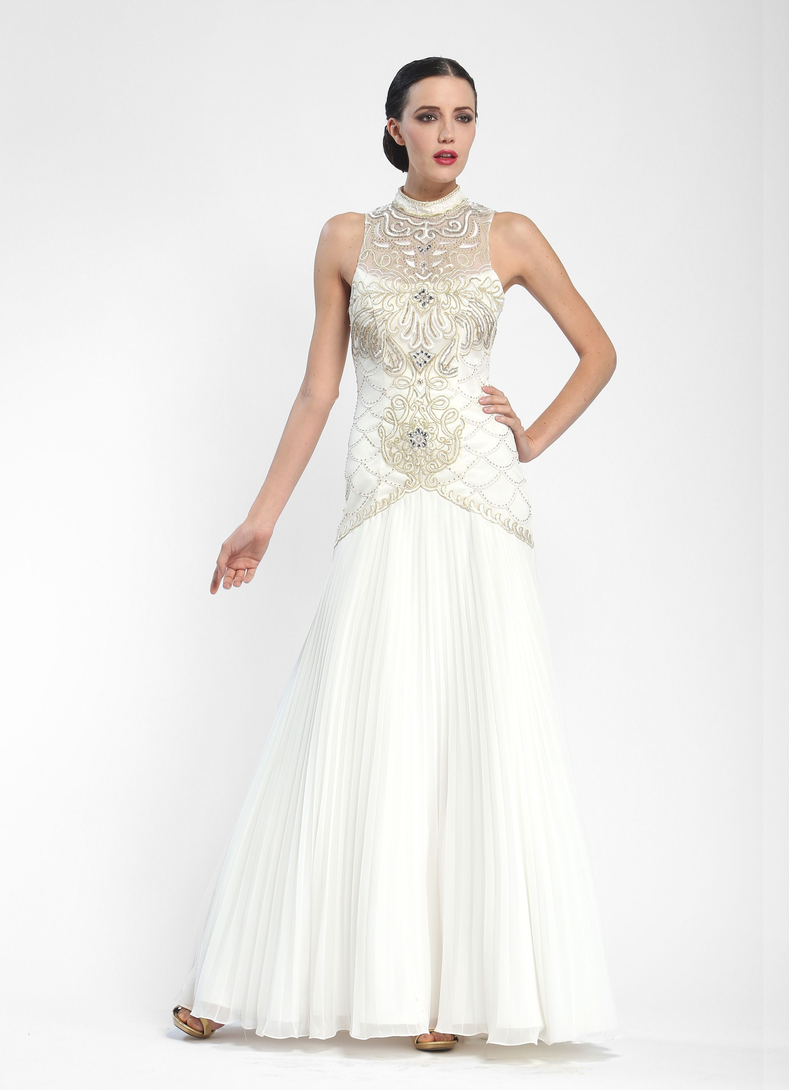 Sue Wong Embroidered Sleeveless Evening Gown W5361 | The Modern ...