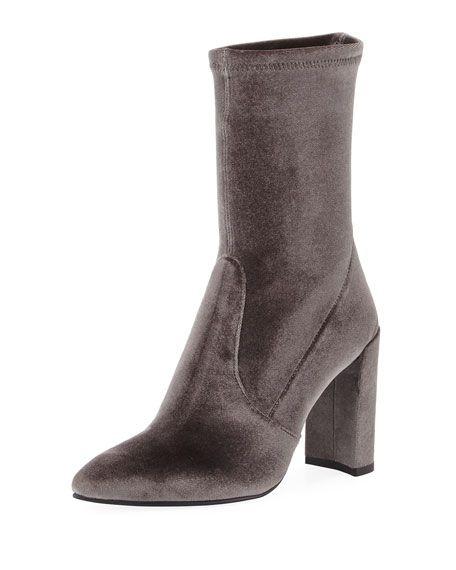 Stuart Weitzman Velvet Mid-Calf Boots cheap low cost SqJiBOrN
