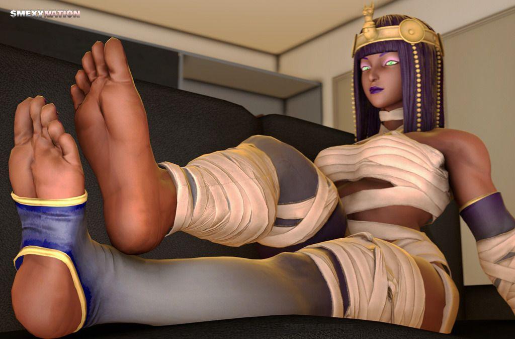 Video game girl feet