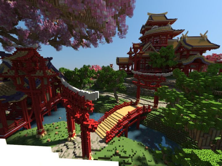 explore minecraft buildings cherry tree and more japanese minecraft - Minecraft Japanese Tree