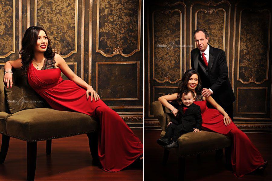 Formal Family Portraits At Studio B Inspired By The Kardashian Christmas Card