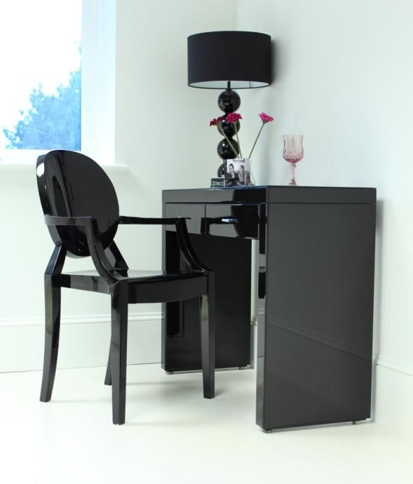 Black gloss dressing table from Out There Interiors