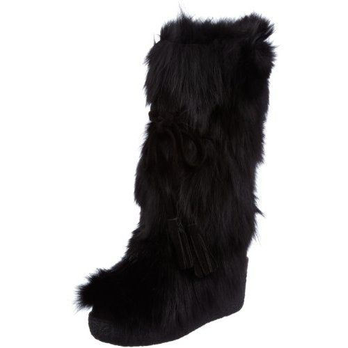 buy popular 7d3a5 d5b7c BUFFALO lustige Moon Boots mit Fell (Rosa) Schuhe | Botas ...