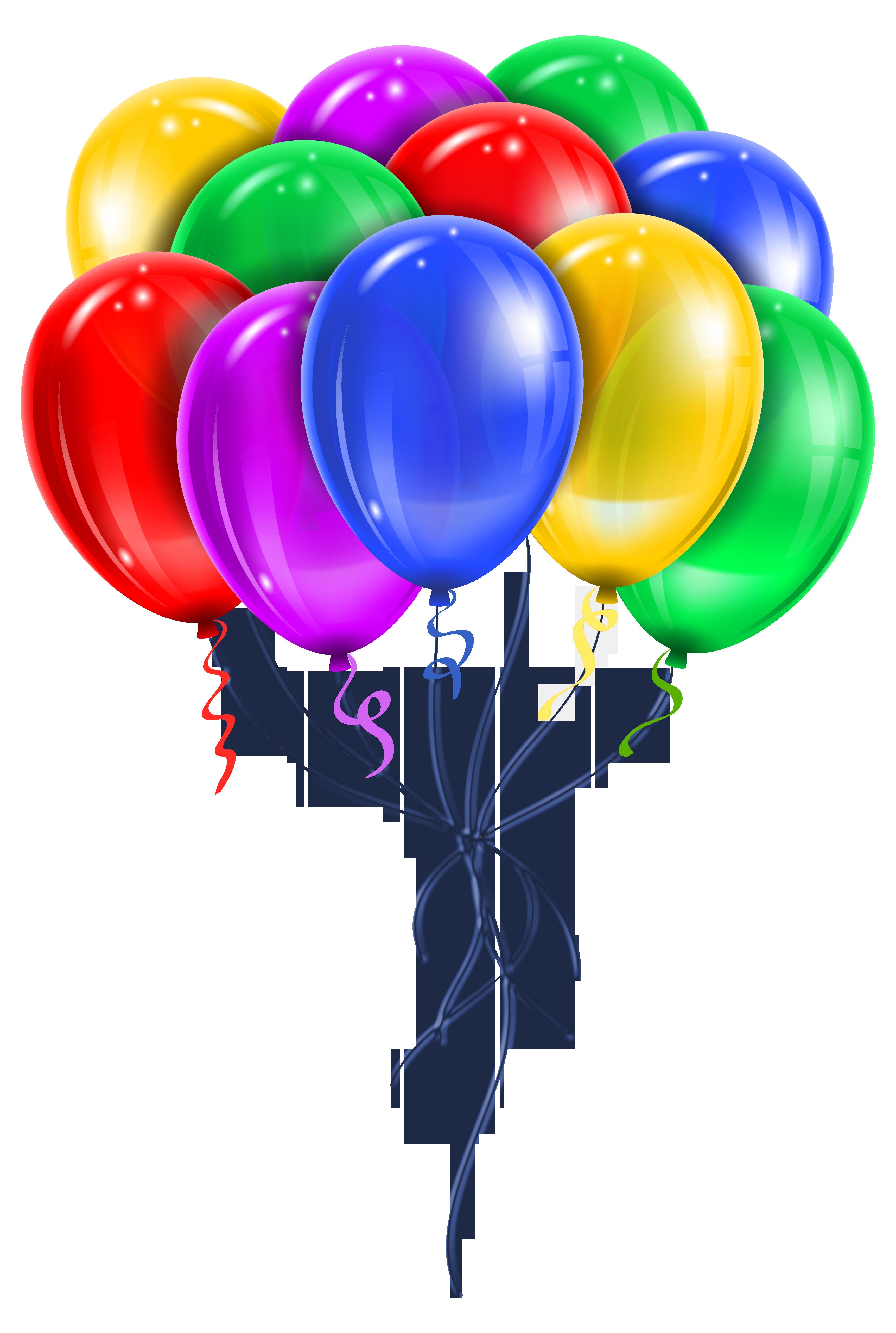 Transparent Multi Color Balloons PNG Picture Clipart