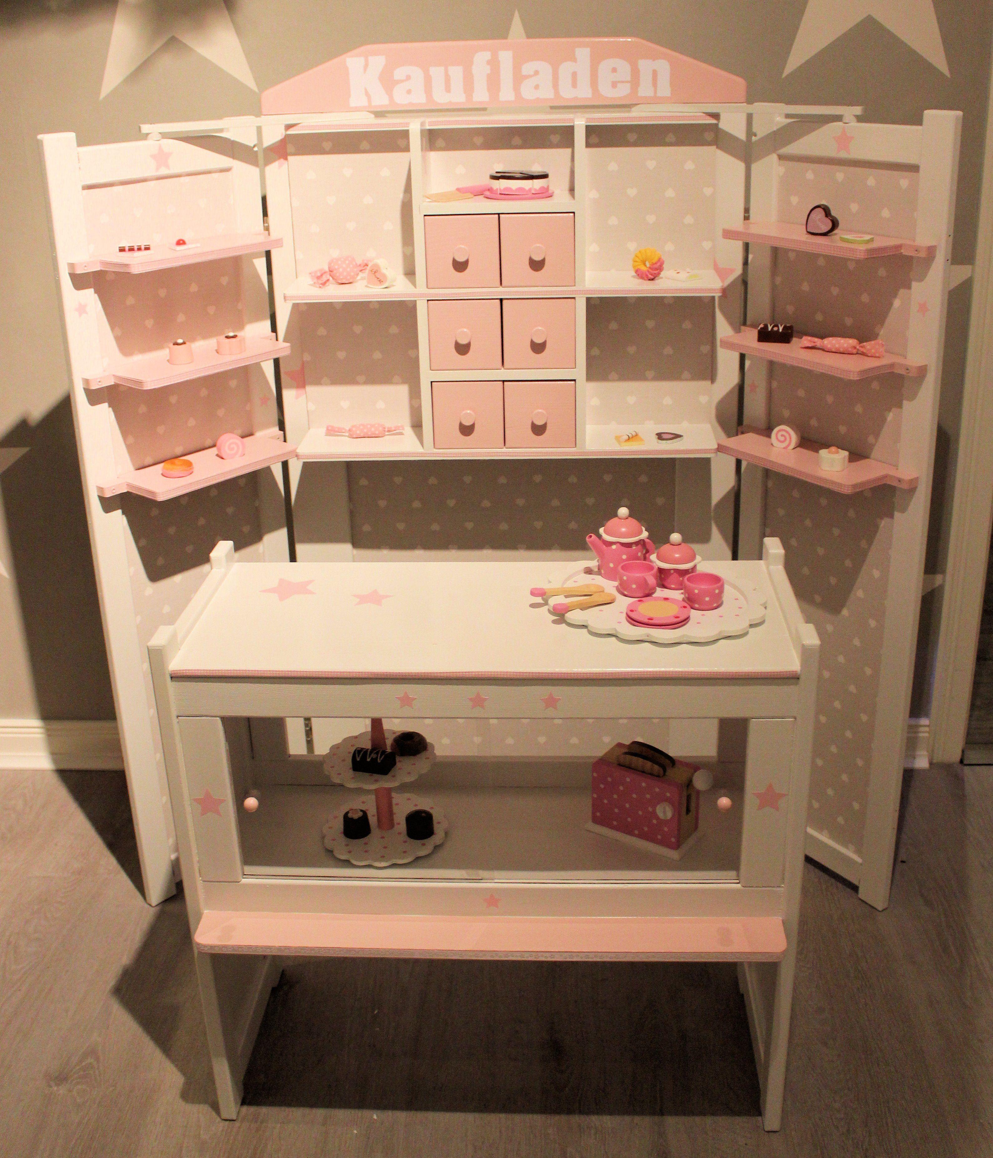 kaufmannsladen kaufladen rosa weiß shabby | playroom | pinterest
