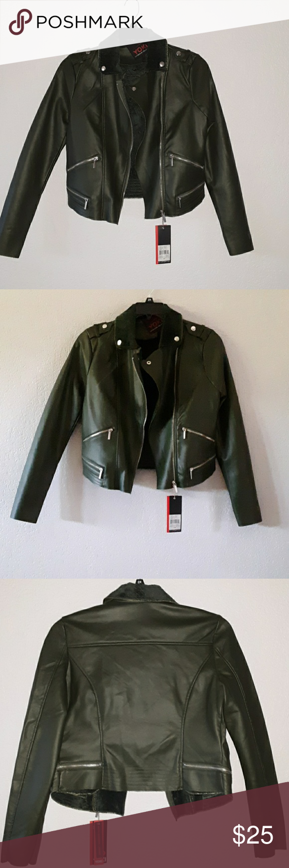 Yoki Outerwear Collection Faux Leather Jacket Leather Jacket Faux Leather Jackets Jackets [ 1740 x 580 Pixel ]