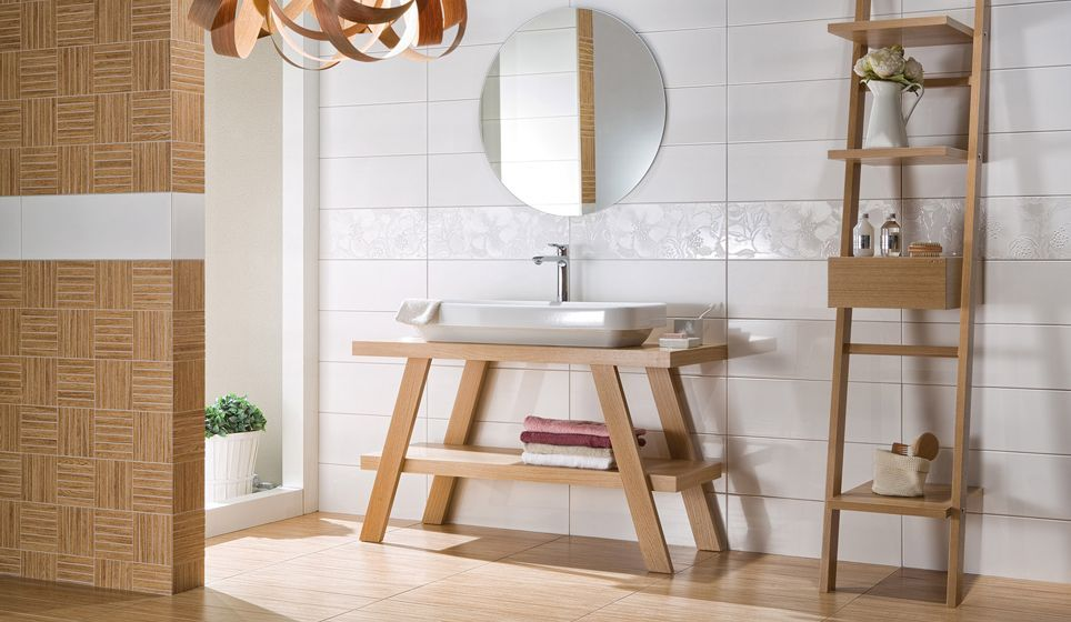 Wandtegels Badkamer Beige : Basic badkamer met beige wandtegels in patroon deze wand wordt