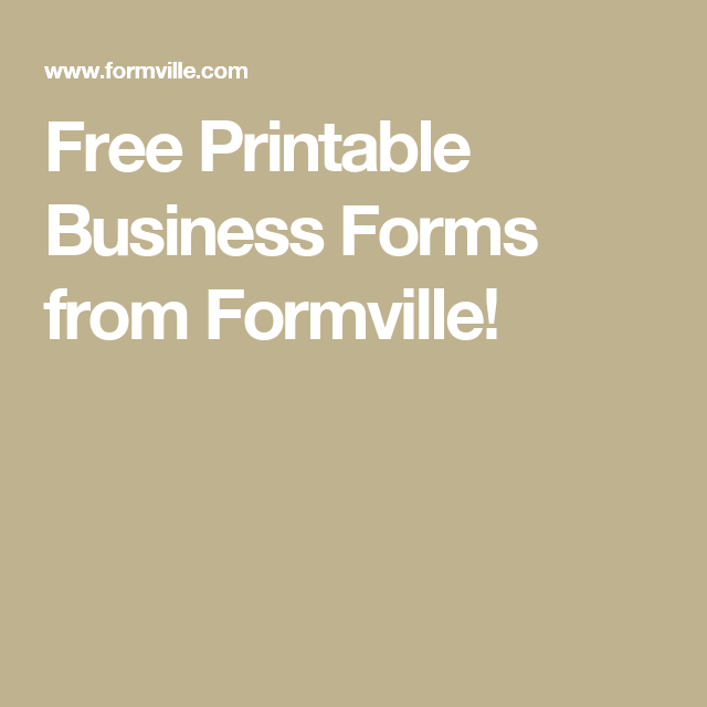 Free Printable Business Forms from Formville!