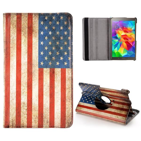 Samsung Galaxy Tab S (8.4) case, hoesje, cover USA Vlag