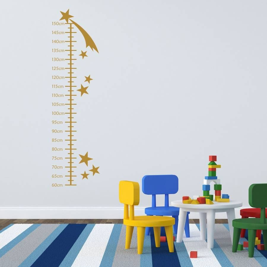 Shooting stars growth chart wall sticker growth charts shooting this shooting star growth chart wall sticker will brighten up any childs bedroom as well as geenschuldenfo Image collections