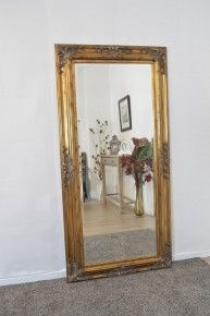 5adec16877b2 6Ft X 3Ft 179cm X 87cm Large Gold Antique Style Ornate Big Wall Mirror  Bargain 229.99