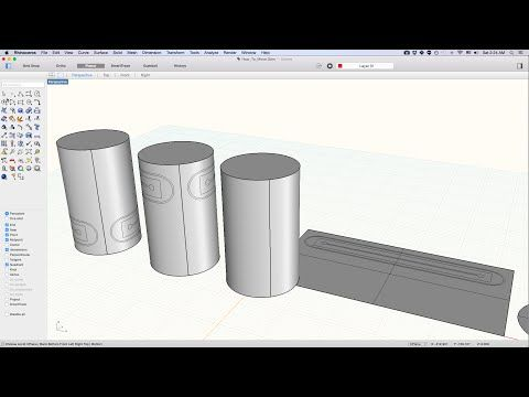 How to Project Curve on a Cylinder, using the Rhino commands