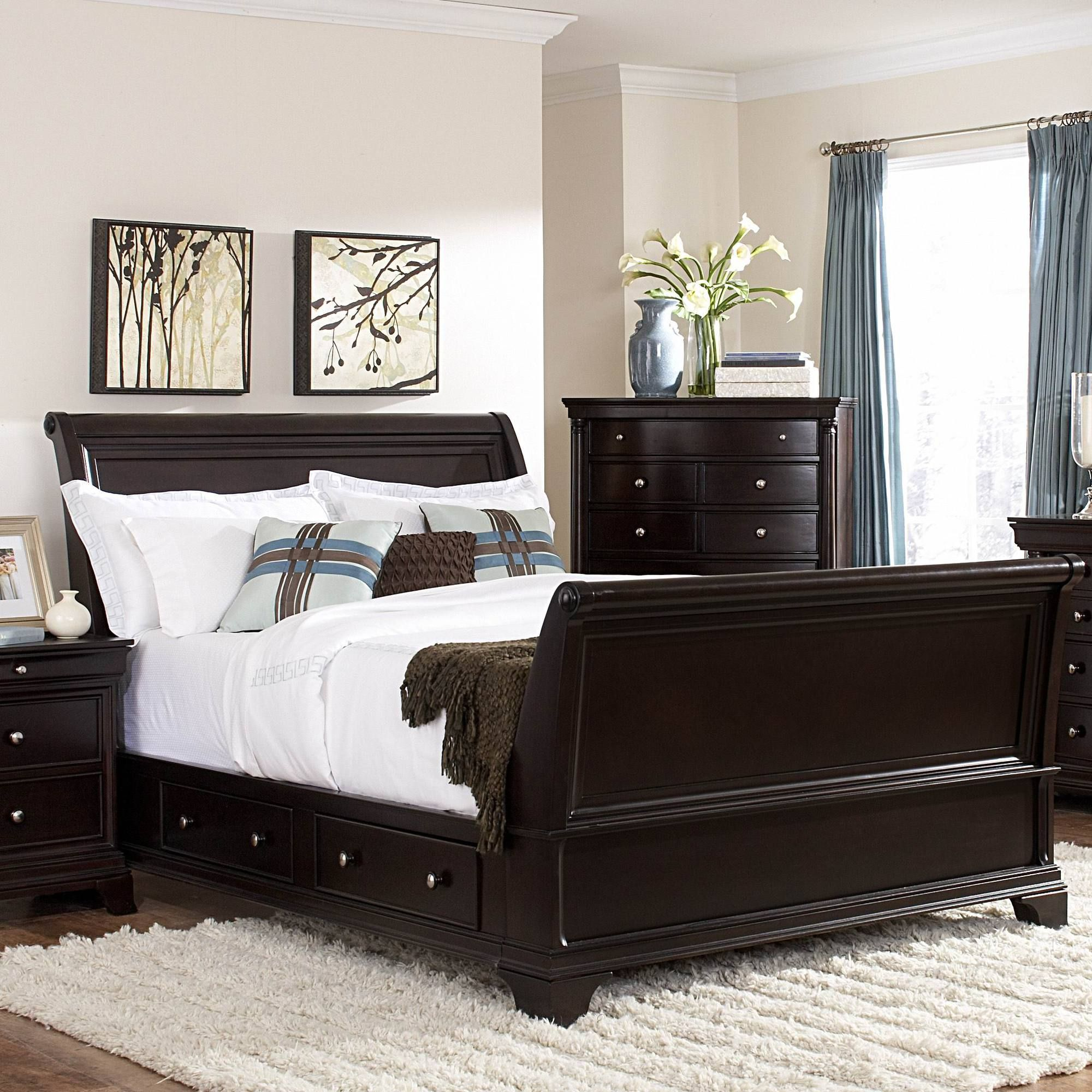 Woodbridge Home Designs Inglewood Sleigh Bed Bed Furniture