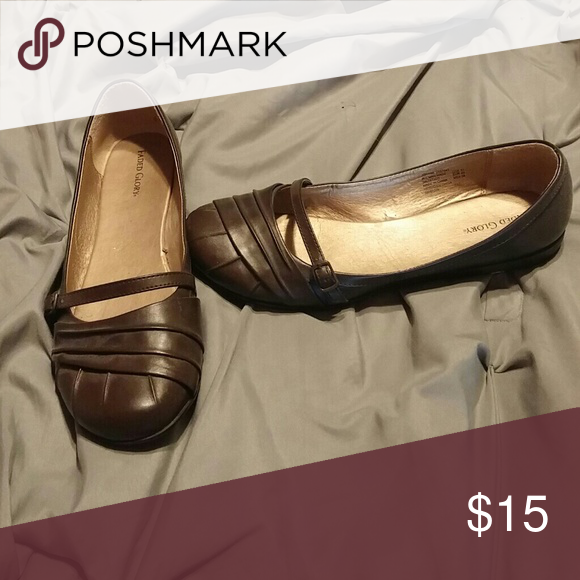 7c0cd8bc13aa3 Brown flats Chocolate Brown faux leather outside
