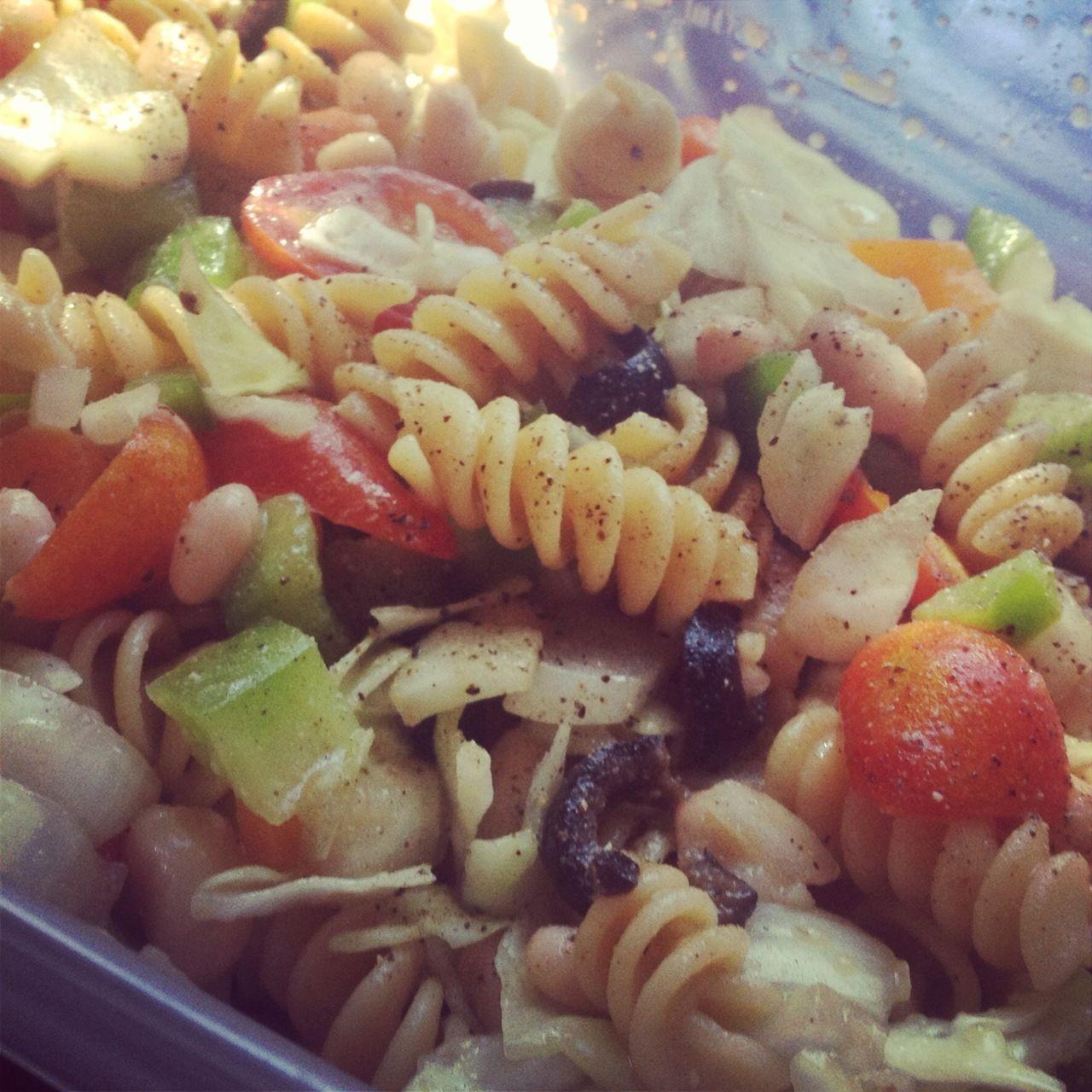 Easy Italian Pasta Salad Nourishment Side Dishes