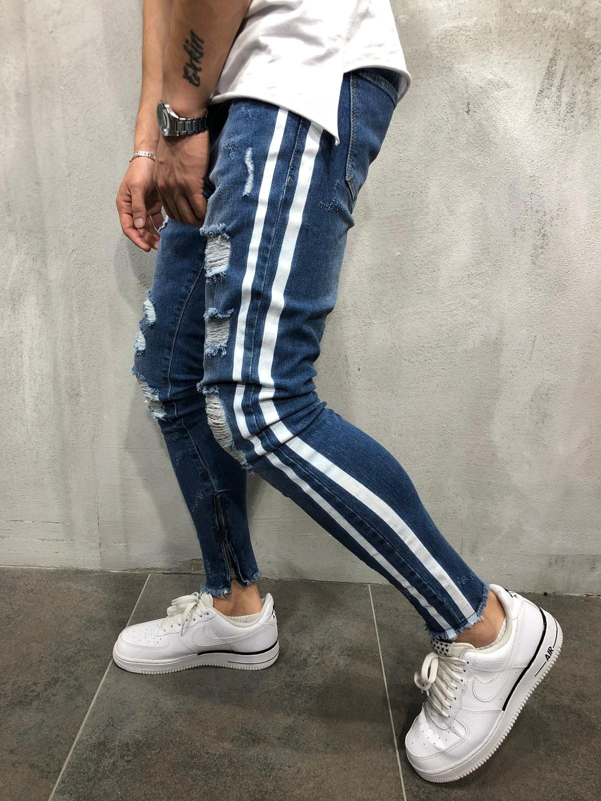 8190a2d7 #streetwearfashion #fitsonpoint #beststreetoutfit Funky Pants, Distressed  Denim Jeans, Ankle Length,