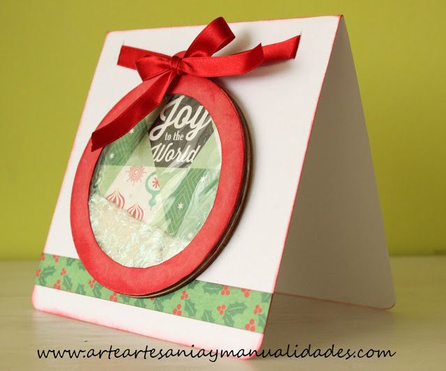 Arte artesania y manualidades tarjetas navidad - Manualidades tarjetas de navidad ...