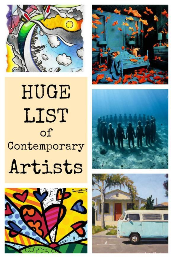 Huge List Of Contemporary Artists Art History Lessons Contemporary Artists History Painting