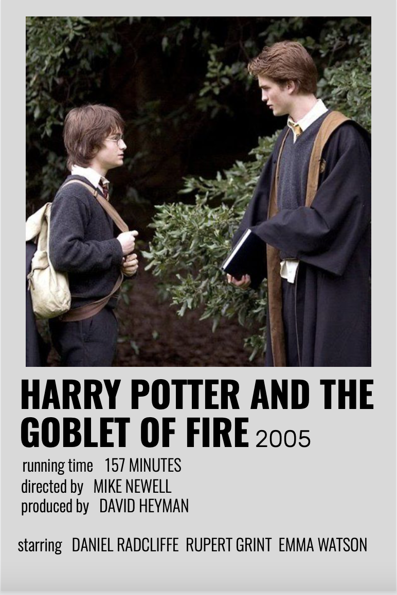 Harry Potter and the Goblet of Fire Minimalist Poster