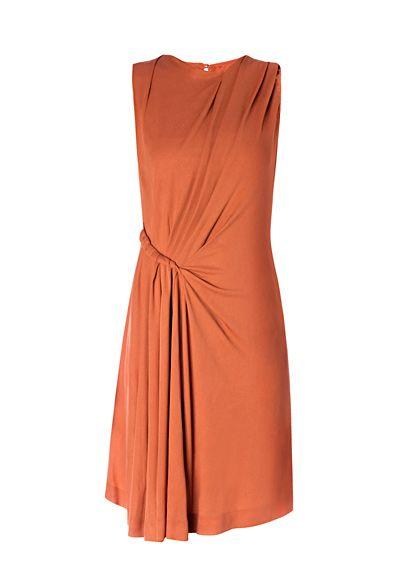 MANGO - Draped detail dress