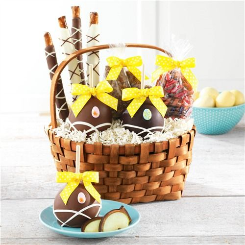 Delightful surprises easter caramel apple and confections gift delightful surprises easter caramel apple and confections gift basket negle Image collections